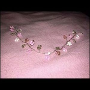 Pink and pearl headpiece